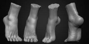 مدل اسکن سه بعدی پا