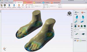 خروجی اسکن سه بعدی پا در طراحی کفی طبی - فوت اسکنر سه بعدی
